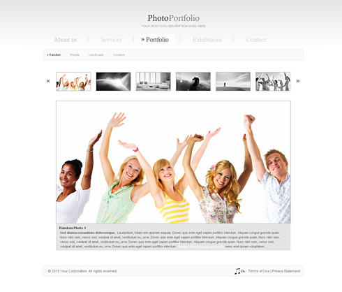 ultra clean gallery flash Template very cool