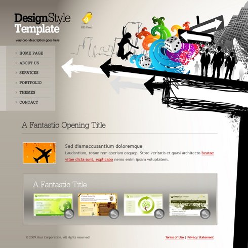creative web design templates .