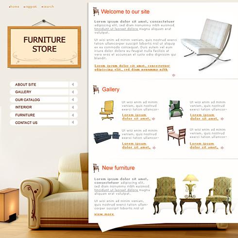 0689 interior furniture website templates for Interior furniture website