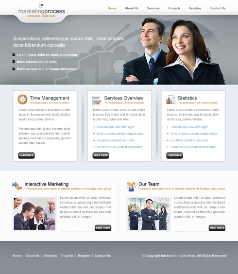 business clean website template 6311 business