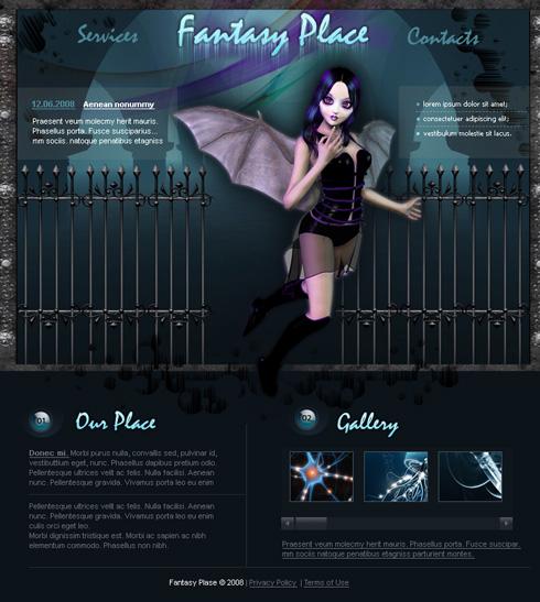 fantasy website templates. Black Bedroom Furniture Sets. Home Design Ideas