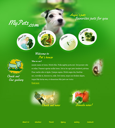 Puppy Web Template - 0538
