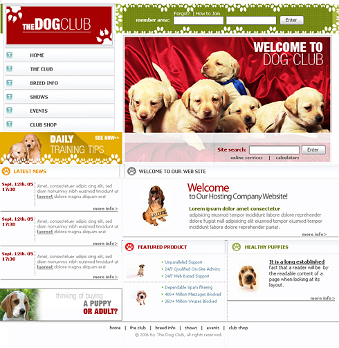 Puppy Webpage Template - 0626