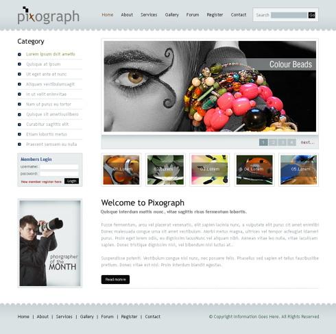photograph studio webpage template 6232 art photography website templates dreamtemplate. Black Bedroom Furniture Sets. Home Design Ideas