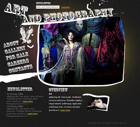 Web Art HTML Template - 0954