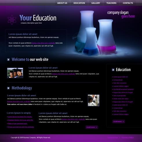 4366 futuristic science website templates dreamtemplate