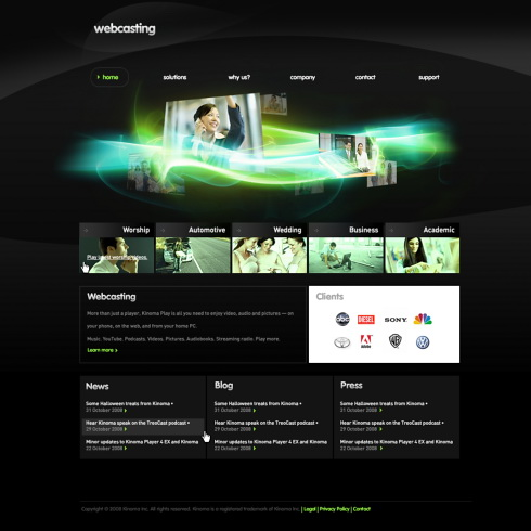 5448 Futuristic Amp Science Website Templates