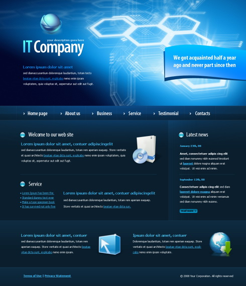 5956 futuristic science website templates dreamtemplate 5956 templates website maxwellsz