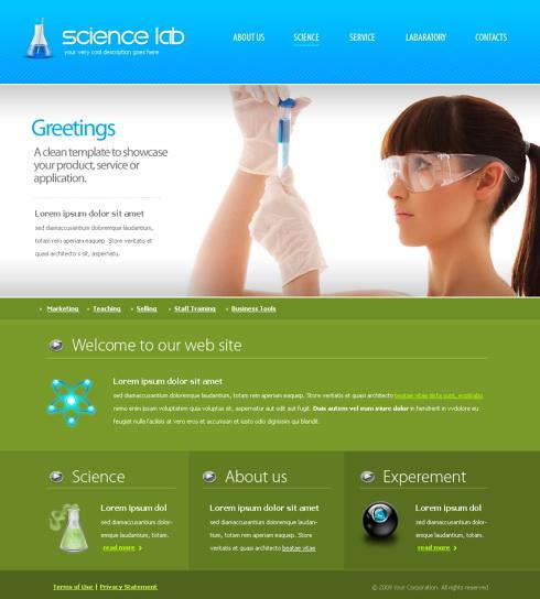 6105 futuristic science website templates dreamtemplate