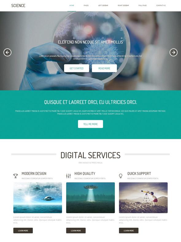 futuristic science html template futuristic science website