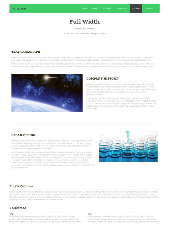Science Fiction Website Template - Futuristic & Science - Website