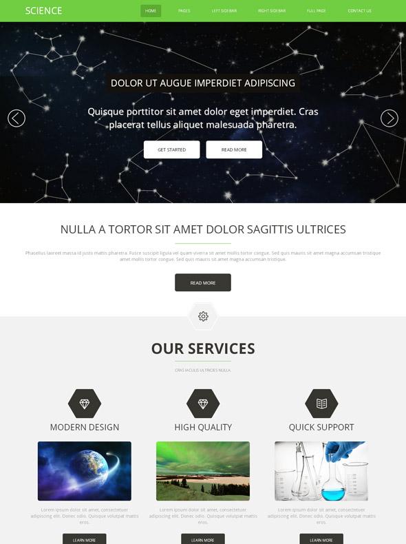 medical science html template futuristic science website