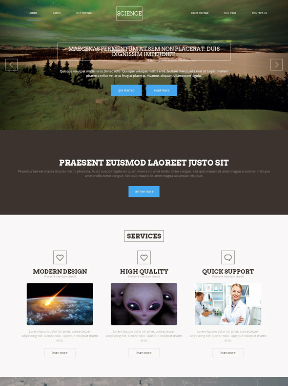 science site template futuristic science website templates dreamtemplate