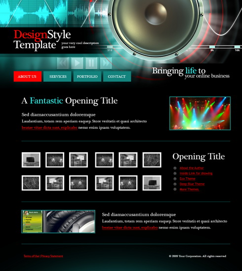 Music Website Templates DreamTemplate - Music website templates