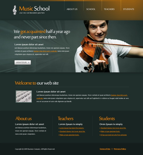 Music Web Template. music website templates wix. 17 html5 music ...
