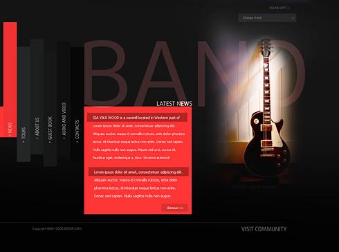 0563 - Music - Website Templates - DreamTemplate