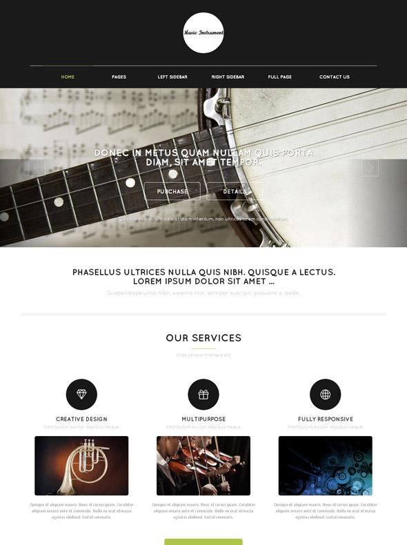 Guitar Web Template - Music - Website Templates - DreamTemplate