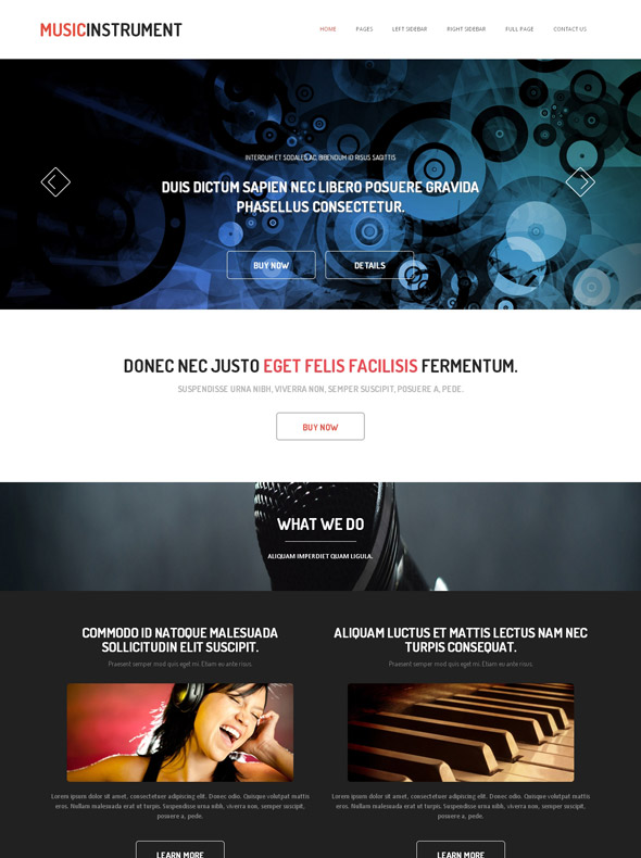 Piano Html Template Music Website Templates Dreamtemplate