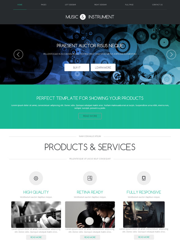 Music Hip Hop Web Template - Music - Website Templates - DreamTemplate