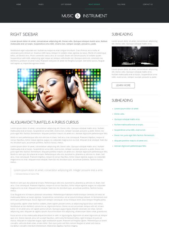 Music Hip Hop Web Template - Music - Website Templates - DreamTemplate