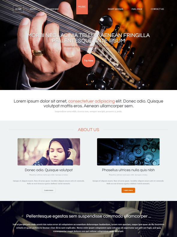 Country Music Web Template Music Website Templates DreamTemplate - Music website templates