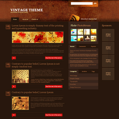 darkages - WordPress Personal - WordPress Themes - DreamTemplate