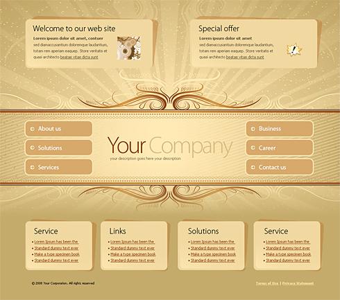 4188 vector cartoons website templates dreamtemplate