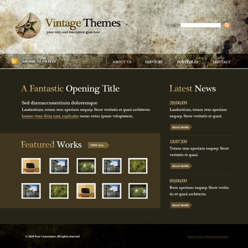 Concept Webpage Template- 5480 - Abstract - Website Templates ...