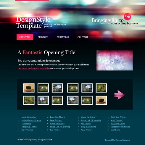 Art Web Template - 5481 - Abstract - Website Templates - DreamTemplate