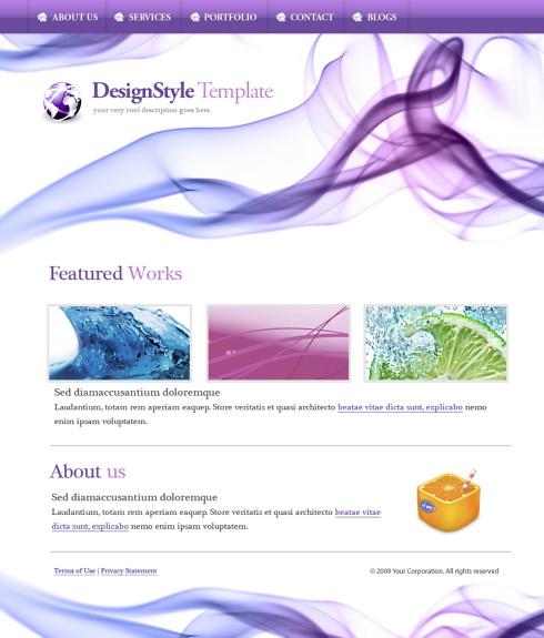 website template html