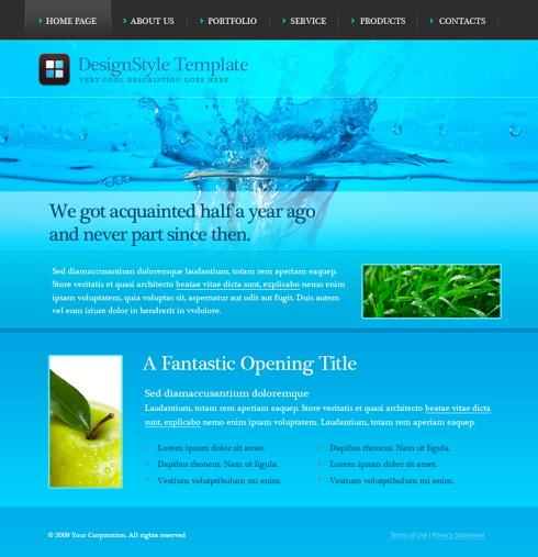 blueart website template 5637 abstract website templates