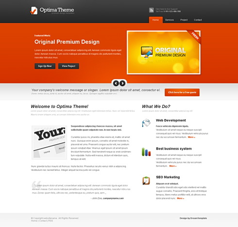 Optima - HTML Template - Personal CSS Templates - CSS Templates ...