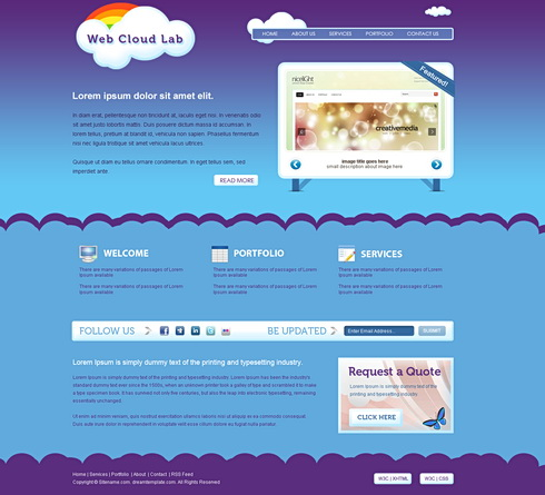 WebCloudlab - Webpage Template - Personal CSS Templates