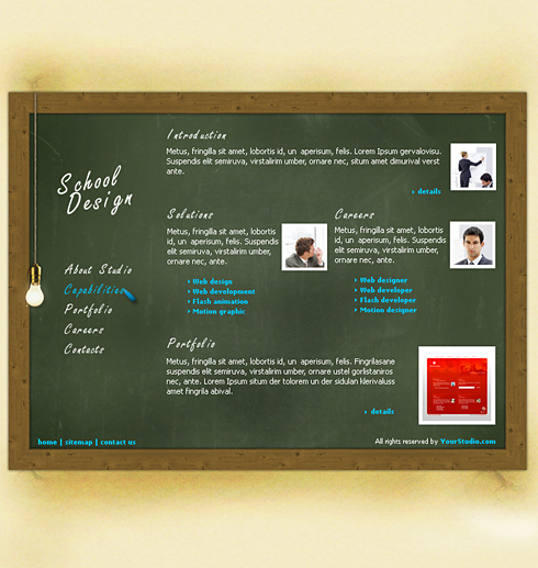 BlackBoard HTML Template - 0200 - Education & Kids - Website ...