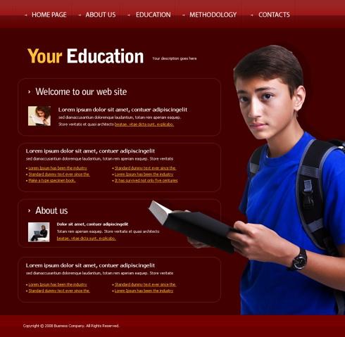 Student Activity Website Template 4330 Education Kids