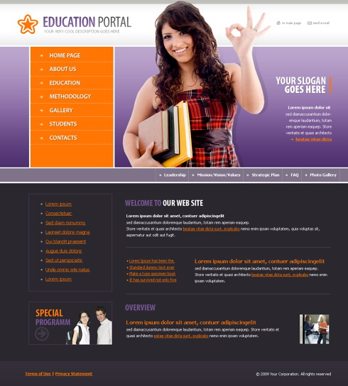 Education CSS Template - 4373 - Education & Kids - Website Templates ...