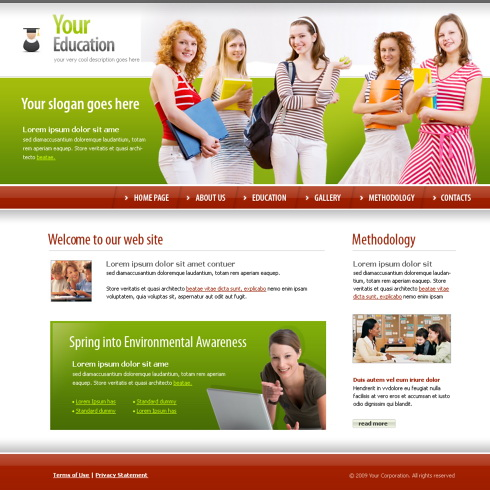 students education xhtml template 5623 education kids