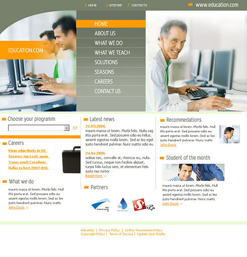 Computer Education HTML Template - 0550 - Education & Kids ...