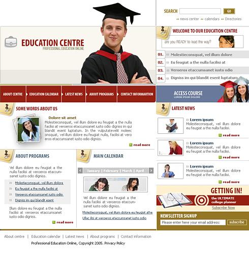 Law Students Website Template 0576 Education Kids Website