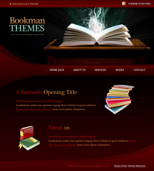 books html template 5963 education kids website templates dreamtemplate. Black Bedroom Furniture Sets. Home Design Ideas