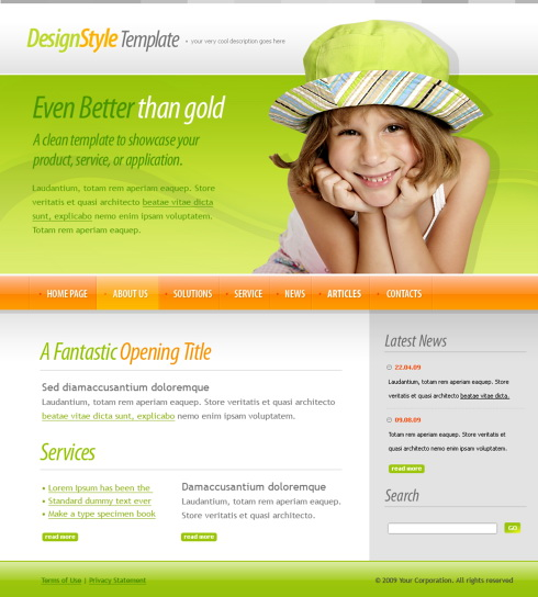 Kids School CSS Template - 6109 - Education & Kids - Website ...