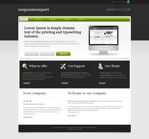 Elitebusiness css template corporate css templates for Html table css template