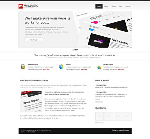 MiniMalist Website Template Corporate CSS Templates CSS - Minimalist website template