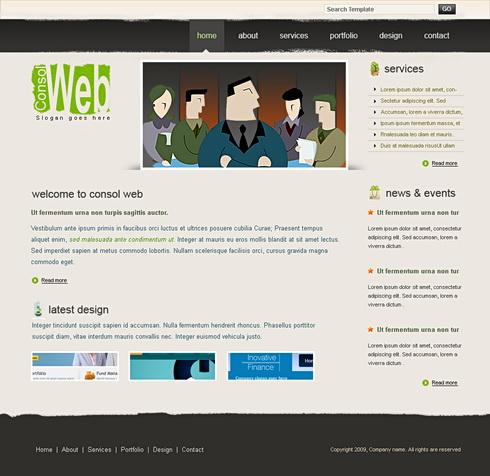 Web Events Webpage Template Creative Design Website - Event website template