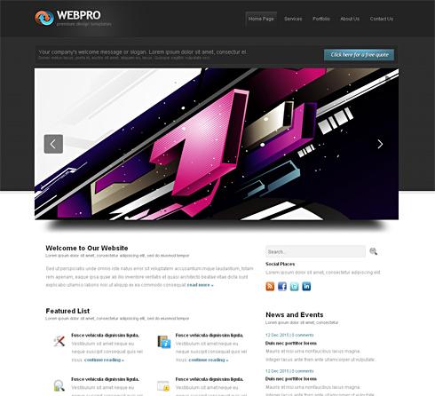 Webpro-Cuber - CSS Template - 3D CUBER - CSS Templates - DreamTemplate