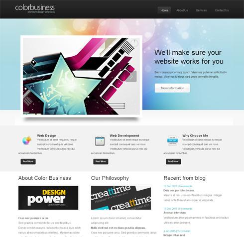 ColorBusiness-Cuber - Web Template - 3D CUBER - CSS Templates ...