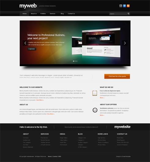 Myweb cuber website template 3d cuber css templates myweb cuber website template maxwellsz
