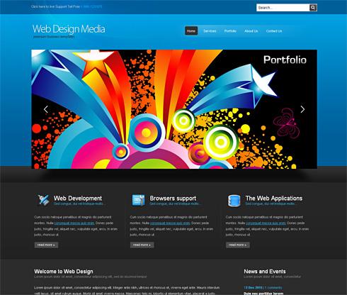 Webdesignmedia cuber website template 3d cuber css templates webdesignmedia cuber website template maxwellsz