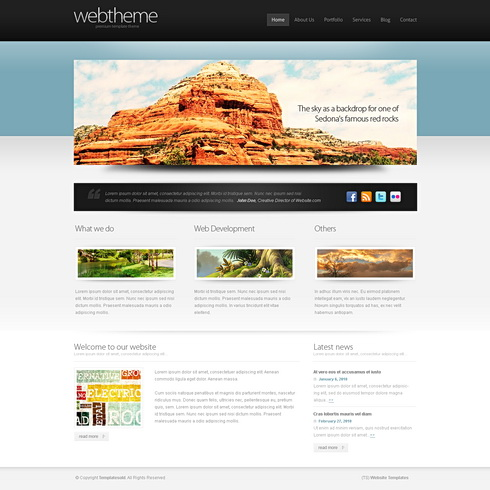 Accentuate 3d Web Template 3d Cuber Css Templates