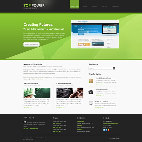 Toppower 3d css template 3d cuber css templates for What are html templates